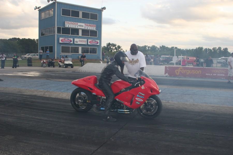 Tim Howard will be racing his MyBikerAttorney Hayabusa.